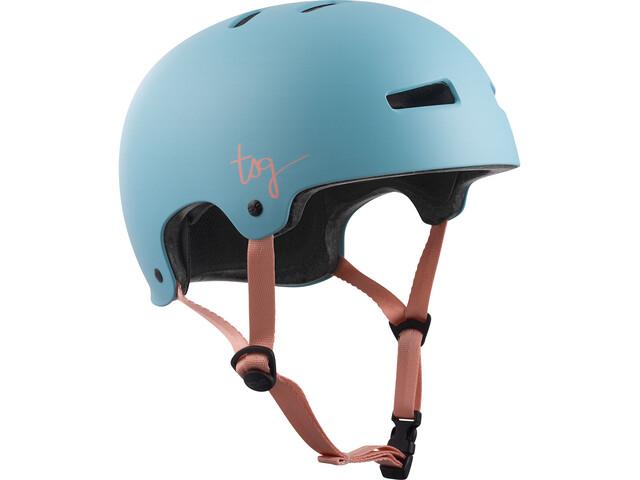 TSG Evolution Solid Color Helmet Damen satin porcelain blue